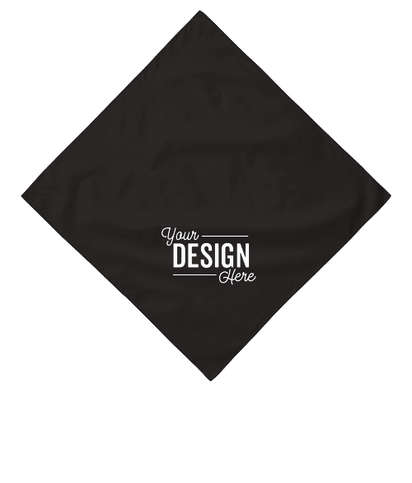 Port Authority 100% Cotton Bandana (Corner Design) - Black