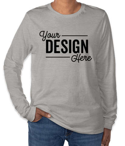 Bella + Canvas Tri-Blend Long Sleeve T-shirt - Athletic Grey Tri-Blend
