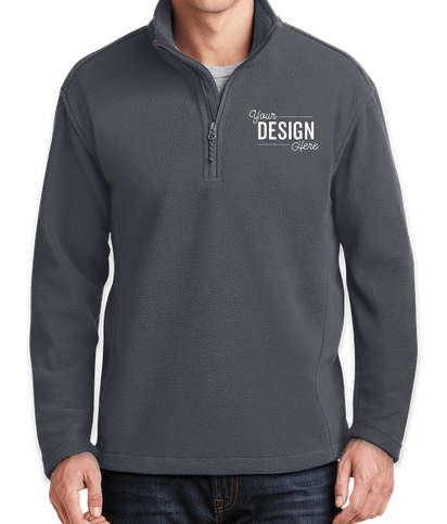 Port Authority Value Quarter Zip Fleece Pullover - Iron Grey