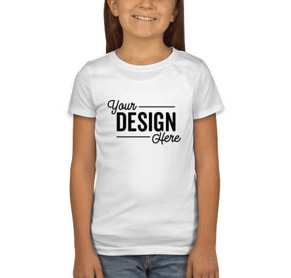 Next Level Youth Girls Jersey T-shirt - White