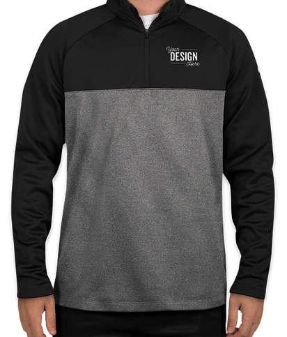 Nike Therma-FIT Color Block Half Zip Fleece - Black/ Dark Grey Heather