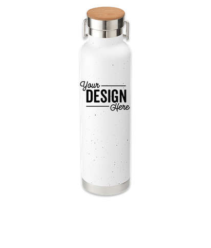 22 oz. Thor Speckled Copper Vacuum Insulated Water Bottle - White