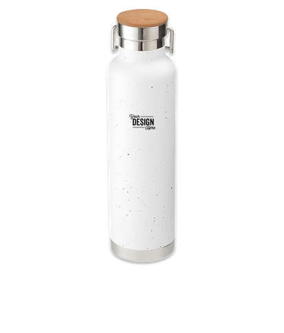 Laser Engraved 22 oz. Thor Speckled Copper Vacuum Insulated Water Bottle - White