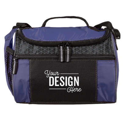 Colorblock Zip-Top 8 Can Lunch Cooler - Royal Blue