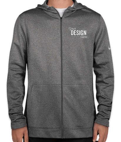 Nike Therma-FIT Full-Zip Performance Hooded Sweatshirt - Dark Grey Heather