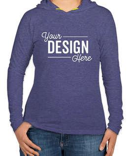 Anvil Women's Hooded Long Sleeve T-shirt