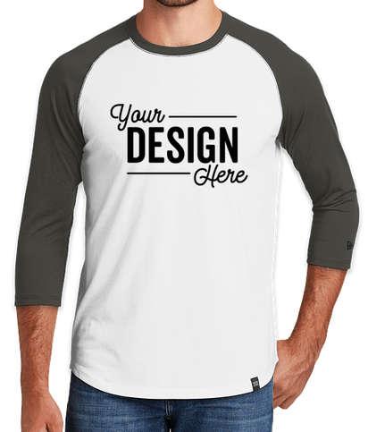 New Era Heritage Blend Raglan T-shirt - Graphite / White