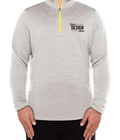 Reebok Circuit Quarter Zip Performance Shirt - Heather Oatmeal