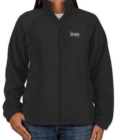 Harriton Women's Full Zip Fleece Jacket - Black