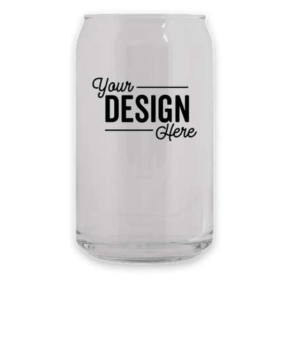 16 oz. Soda Can Glass - Clear