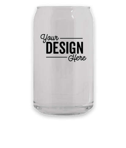Full Color 16 oz. Soda Can Glass - Clear