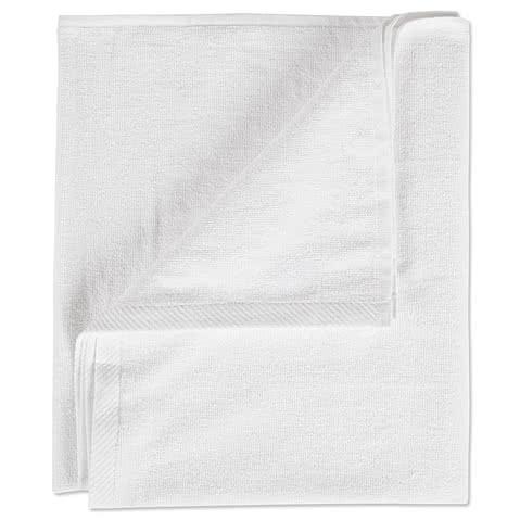 Midweight White Screenprinted Beach Towel