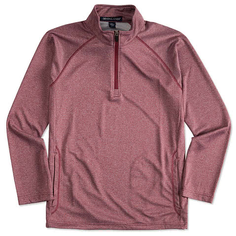 Devon & Jones Heather Quarter Zip Performance Pullover