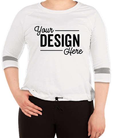 New Era Women's Tri-Blend Raglan T-shirt - Fan White Solid / Shadow Grey