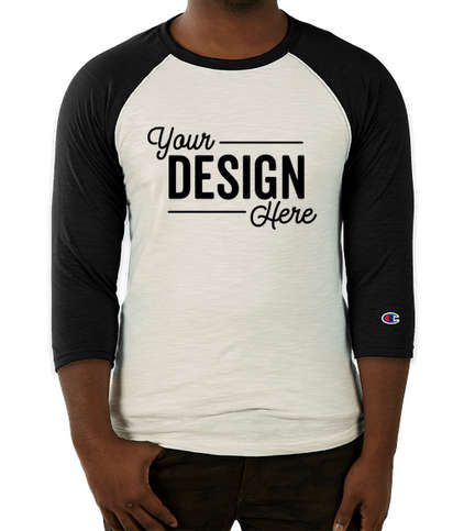 Champion Premium Fashion Raglan T-shirt - Chalk White / Black