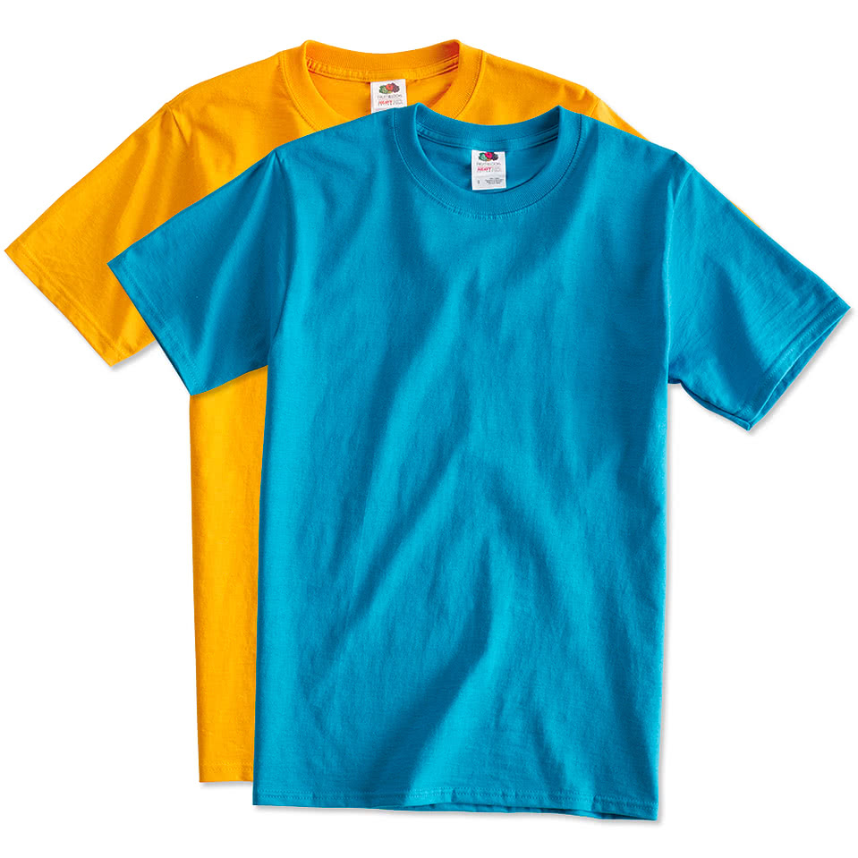 Custom canada fruit of the loom 100 cotton t shirt for Make custom shirts online