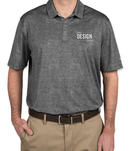 Nike Dri-FIT Crosshatch Performance Polo - Cool Grey / Anthracite