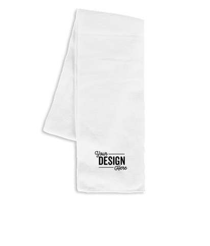 Sportsman Solid Knit Scarf - White
