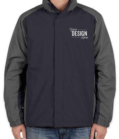 Core 365 Colorblock Fleece Lined All-Season Jacket - Classic Navy / Carbon