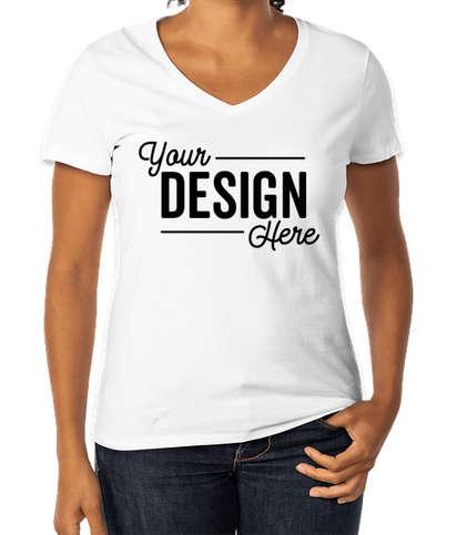 Hanes Women's Perfect V-Neck T-shirt - White