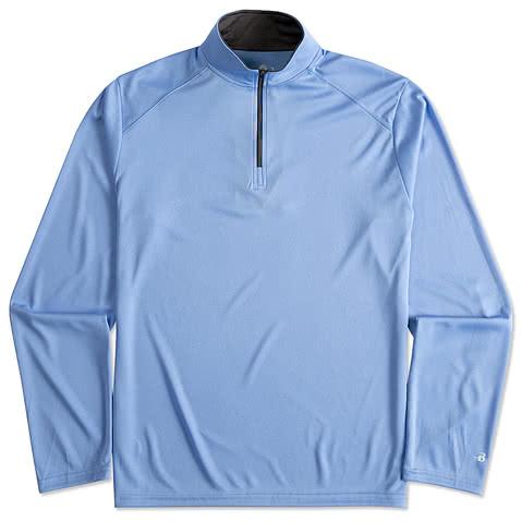 Badger Contrast Quarter Zip Performance Shirt