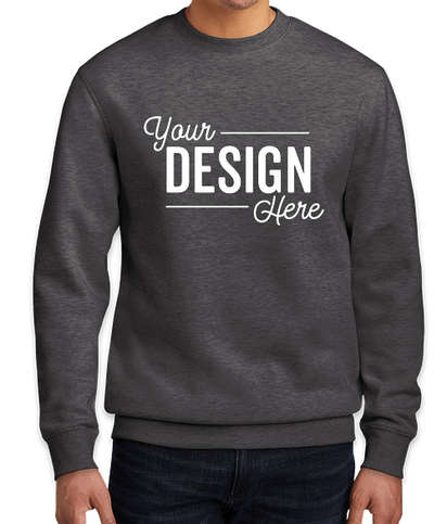District V.I.T. Crewneck Sweatshirt - Heathered Charcoal