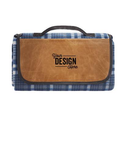 Field & Co. Debossed Roll-Up Picnic Blanket - Navy/Brown