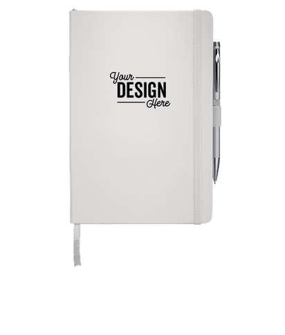 JournalBooks ® Debossed Nova Hard Cover Bound Notebook - White