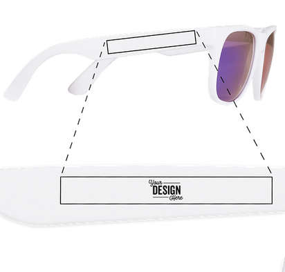 Promotional Mirrored Sunglasses - Blue Tint