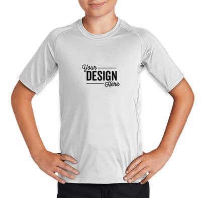Sport-Tek Youth Rash Guard Shirt - White