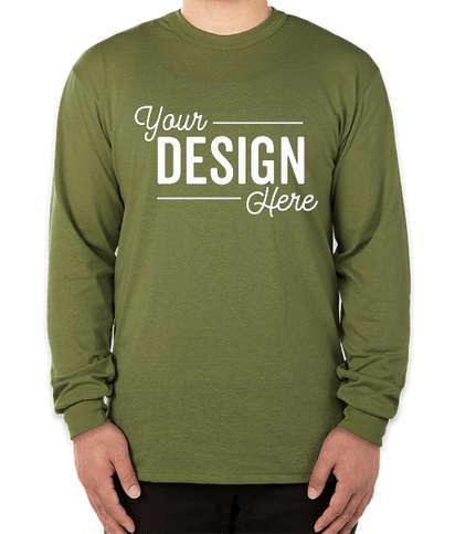Soffe Military USA-Made 50/50 Long Sleeve T-shirt - Olive Drab Green