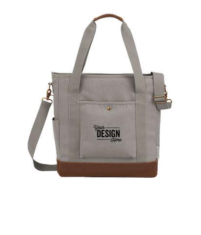 Field & Co. 16 oz. Cotton Canvas Commuter Tote Bag - Gray