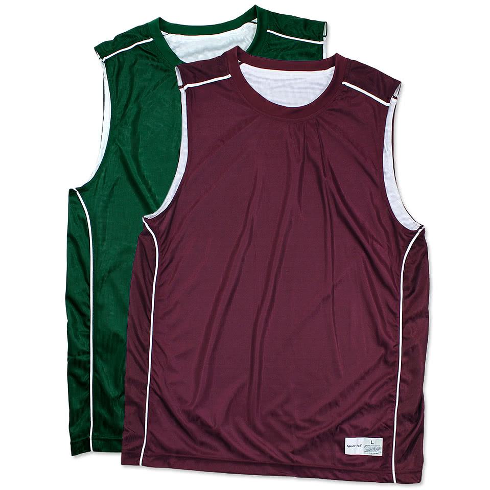 Custom Sport-Tek Micro-Mesh Reversible Sleeveless Jersey ...