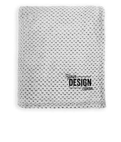 Port Authority Plush Texture Blanket - Shadow Grey