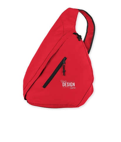 Brooklyn Deluxe Sling Backpack - Red