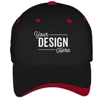 Sportsman Two-Tone Hat - Black / Red