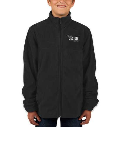 Harriton Youth Full Zip Fleece Jacket - Black