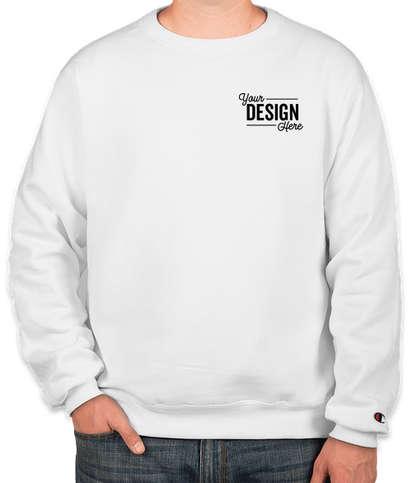 Embroidered Champion Double Dry Eco Crewneck Sweatshirt - White