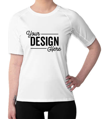 Sport-Tek Women's Rash Guard Shirt - White