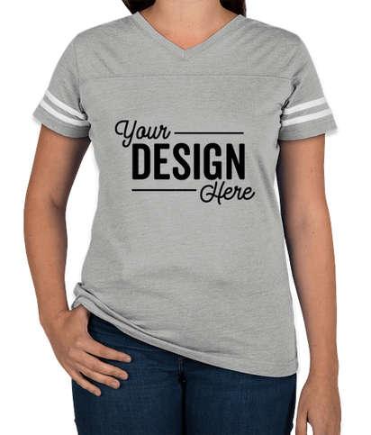 LAT Women's Varsity V-Neck T-shirt - Vintage Heather