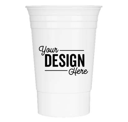 16 oz. Reusable Plastic Party Cup - White