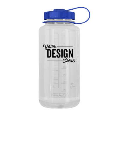 Nalgene 32 oz. Tritan Wide Mouth Water Bottle - Clear / Blue