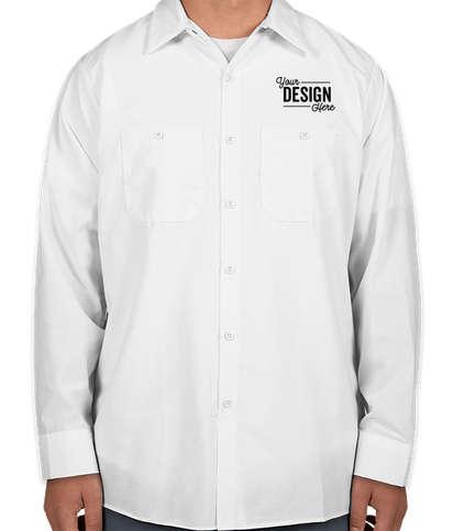 Red Kap Long Sleeve Industrial Work Shirt - White