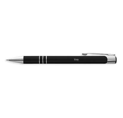 Laser Engraved Richmont Ballpoint Pen (blue ink) - Black