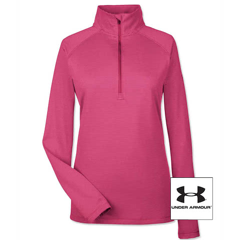 Under Armour Women's Tech Stripe Quarter Zip Pullover