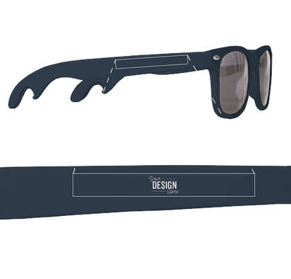 Malibu Bottle Opener Sunglasses - Navy