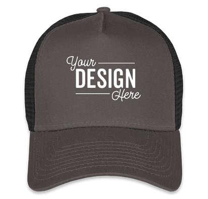New Era 9FORTY Snapback Trucker Hat - Graphite / Black