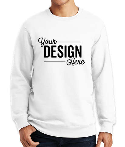 Port & Company Fan Favorite Crewneck Sweatshirt - White