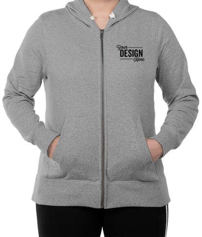 District Women's Re-Fleece Zip Hoodie - Light Grey Heather