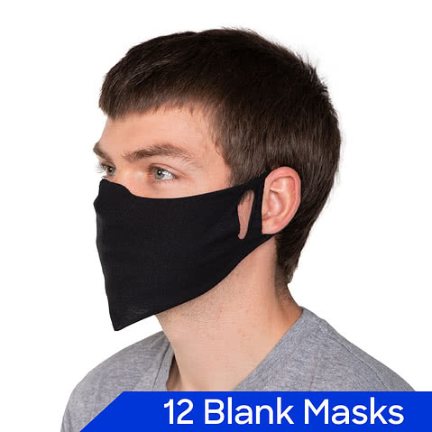 Basic Cloth Face Mask - Pack of 12